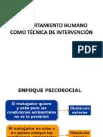COMPORTAMIENTO HUMANO COMO TECNICA DE INTERVENCION