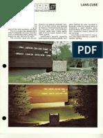 Sterner Lighting Lans-Cube Brochure 1981