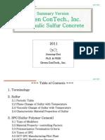 Hydraulic Sulfur Concrete(HSC)