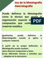 Fundamentos de la Metalografía y Materialografia