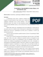 APRENDIZAGEM MOTORA E TRANSFERÊNCIA BILATERAL UM ESTUDO DE CASO