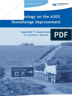 Human bone - Archaeology on the A303 Stonehenge Improvement