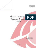 Guia para a elaboração de trabalhos academicos da UNA 2007