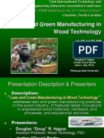 Lean and Green Manufacturing of Wood