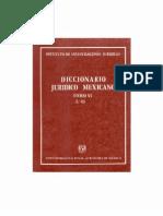 Diccionario Juridico Mexicano - Tomo Vi