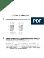Examen Francés 1ESO 2Eval.