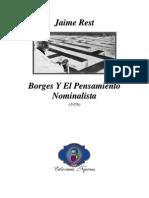 1976 - Jaime Rest _ Borges Y El Pensamiento Nominalista