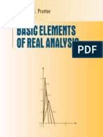 Basic Elements of Real Analysis - Protter.pdf