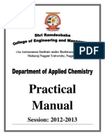 Applied Chemistry Practical Manual Session 12-13
