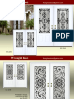 Decorative Glass and Wrought Iron