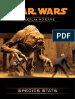 Star Wars WEG - Species Stats