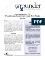 Public Diplomacy 2.0, Where the U.S. Government Meets New Media