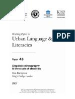 Urban Language and Literacies