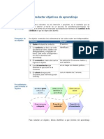 Cómo redactar objetivos de aprendizaje