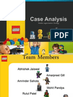swot of lego The lego group's top management consists of an executive leadership team made up of 12 members and a board of directors.