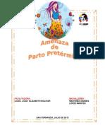 AMENAZA DE PARTO PRETÉRMINO