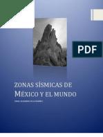 zonas sísmicas de México y el mundo