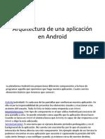 Arquitectura de una aplicación en Android