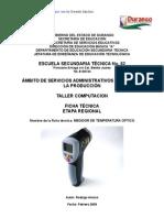 Análisis de Objeto Técnico el Termometro Optico