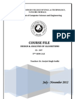 Daa Course File Final 2012