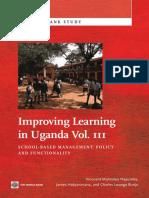 Improving Learning In Uganda, Vol. III