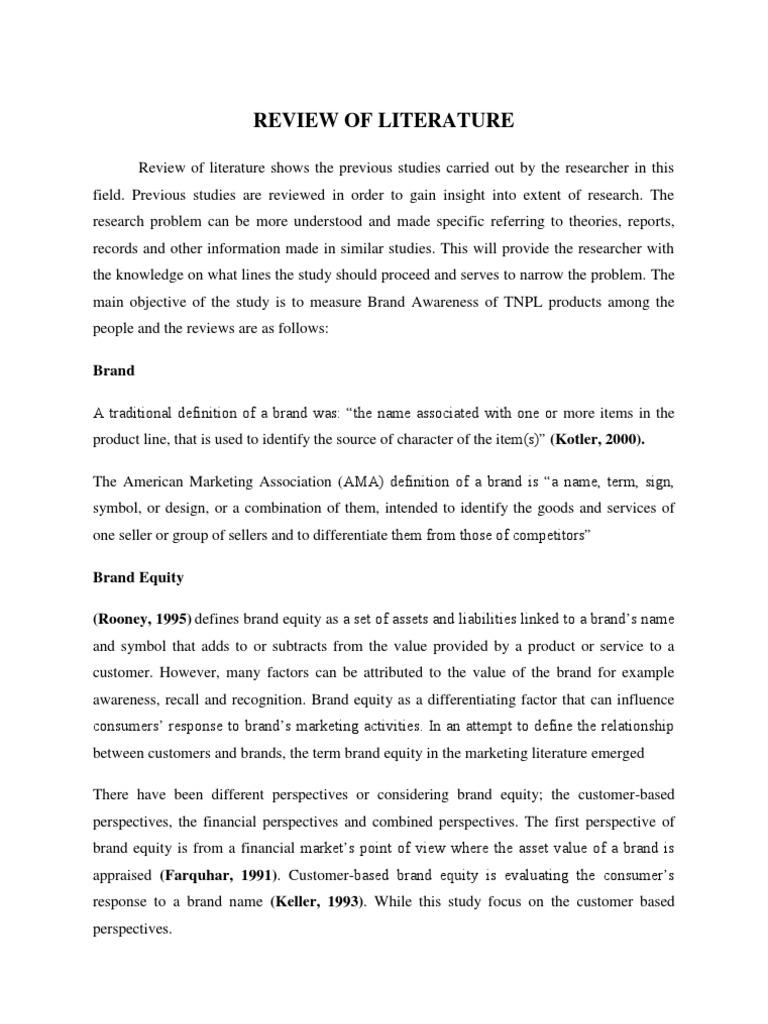 Review of literature on brand awareness brand consumer behaviour buycottarizona Gallery