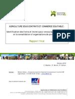 Etude Agriculture Contractuelle (Rapport Final)