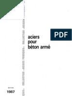 OTUA ACIER POUR Béton armé 1987