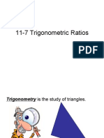 11-7 Trigonometric Ratios