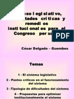 CDG - Diagnóstico y correctivos para el sistema legislativo del Congreso peruano