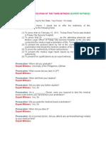 Modified Direct Examination (Prac Court)