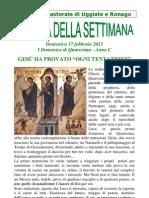 Comunità pastorale di Uggiate e Ronago Agenda 17 Febbraio