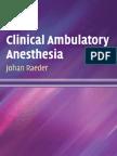 Clinical Ambulatory Anesthesia