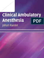 Clinical Ambulatory Anesthesia