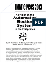 A Primer on the Automated Election System in the Philippines by AESWatch, February 2013
