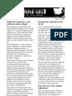 Baltimore Sun Guild Bulletin, Feb. 18 2009