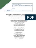 Michalski R., Grobelny J., Karwowski W. (2006). The effects of graphical interface design characteristics on human-computer interaction task efficiency. International Journal of Industrial Ergonomics, 36, 959-977.