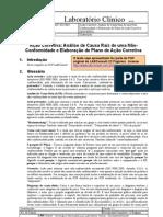 Ação Corretiva Analise de Causa Raiz de Uma Não - Conformidade e Elaboração de Plano de Ação Corretiva