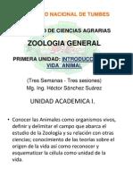 1 Zoologia General Primera Unidad Intoduccion a La Vida Animal