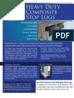 Plasti-Fab, Inc. Composite Stop Log Brochure