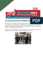 Jornada Electoral de La Unidad Plurinacional