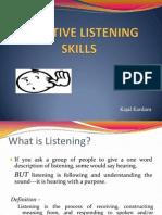 Effective Listening Skills!