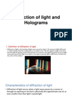 Diffraction of Light and Holograms