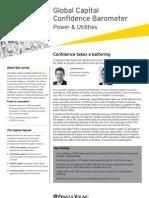 Global Capital Confidence Brometer Power Utilities