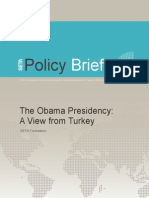 SETA Policy Brief No 29 the Obama Presidency a View From Turkey