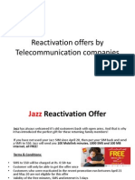 Reactivation Offers by Telecommunication Companies (1)