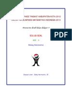 Solusi Olimpiade Matematika Tk Kota 2012 Tipe 3