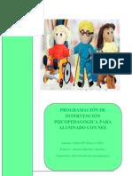 PROGRAMACIÓN DE INTERVENCIÓN PSICOPEDAGOGICA PARA ALUMNADO CON NEE