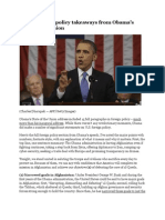 Obama Foreign Policy Jan 2013