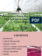 Application of controller in photosynthetic photon flux density.